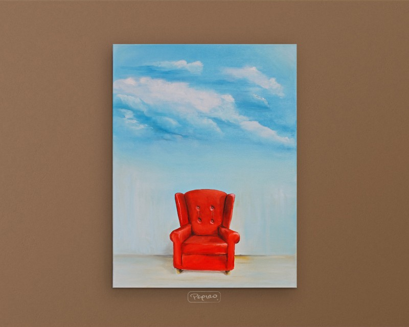 pepiro_van_roncha oil paint 'Red Armchair'