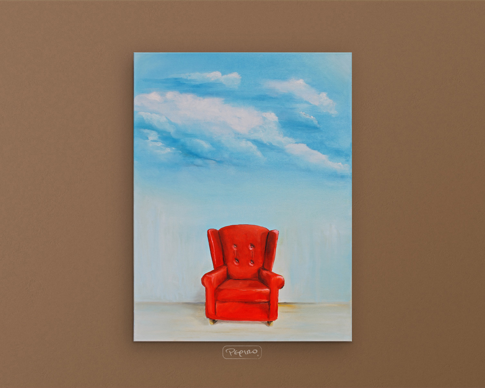 pepiro_van_roncha oil paint 'Red Armchair'